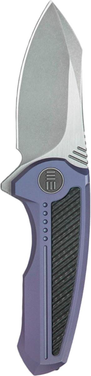 Нож складной We Knife Valiant, цвет: серый, синий, длина клинка 7,55 см multi function portable mini inflator black silver