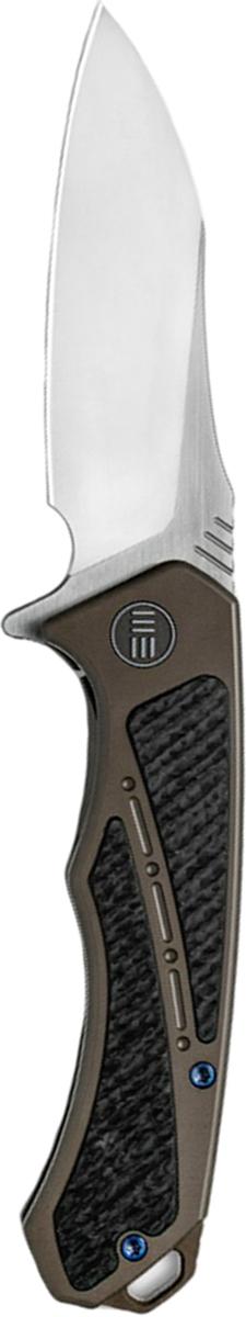 Нож складной We Knife Minitor, цвет: коричневый, серый, длина клинка 8,72 см
