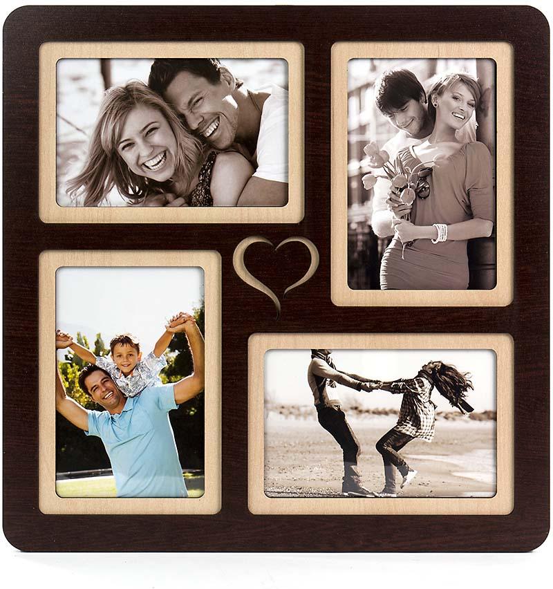 Коллаж Platinum, цвет: венге, на 4 фото. PE-041PE-041 венгеКоллаж натурального цвета из ДВП, с удобными подвесами и кармашками для размещения фотографий. Хорошо сочетается с деревянной мебелью.