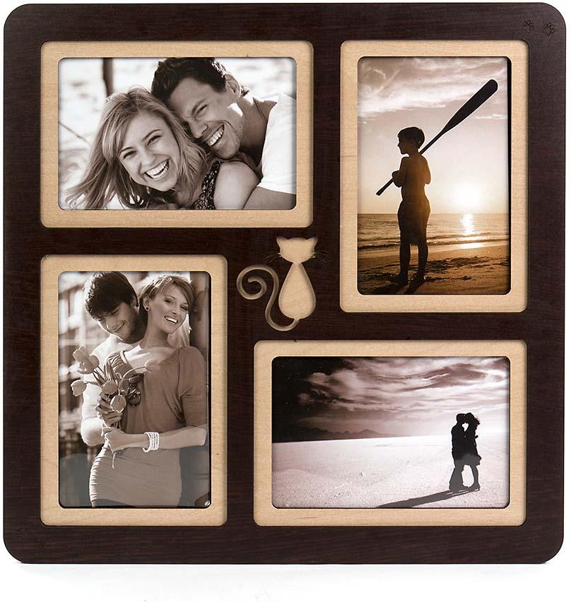 Коллаж Platinum, цвет: венге, на 4 фото. PE-044 коллаж platinum цвет венге на 8 фото pe 087