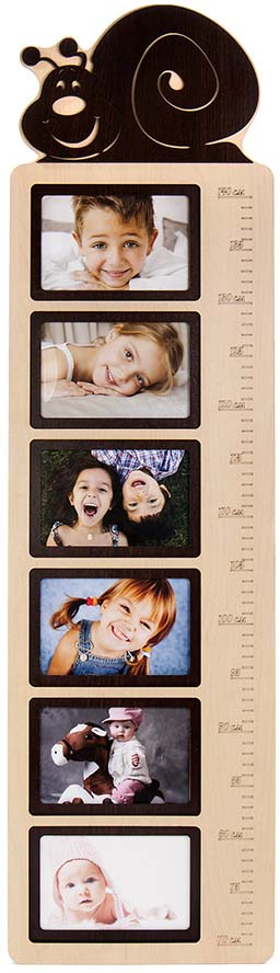 Оригинальный коллаж-ростомер натурального цвета из ДВП, содержащий в наглядном виде фото малыша и его метрические данные в этом возрасте. Добрая память на долгие годы.