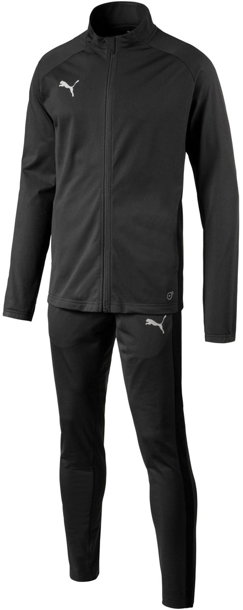 Костюм спортивный мужской Puma ftblNXT Poly Tracksuit, цвет: черный. 65558004. Размер L (48/50)65558004Спортивный костюм ftblNXT Poly Tracksuit предназначен для игры в футбол как на тренировках, так и на дружеских матчах. Он обеспечивает максимум комфорта в процессе сложных тренировок и ответственных матчей.Особенности: - технология dryСELL - высокотехнологичный материал быстро впитывает и выводит наружу избыток влаги с кожи; - боковые карманы на толстовке и штанах; - принт с логотипом PUMA на штанах; - дышащие эластичные вставки подмышками; - резинки на манжетах рукавов и внизу штанов обеспечивают плотную посадку; - логотип PUMA на левой штанине; - эластичный пояс обеспечивает комфортную посадку, не стесняя движений; - полуприлегающий силуэт.