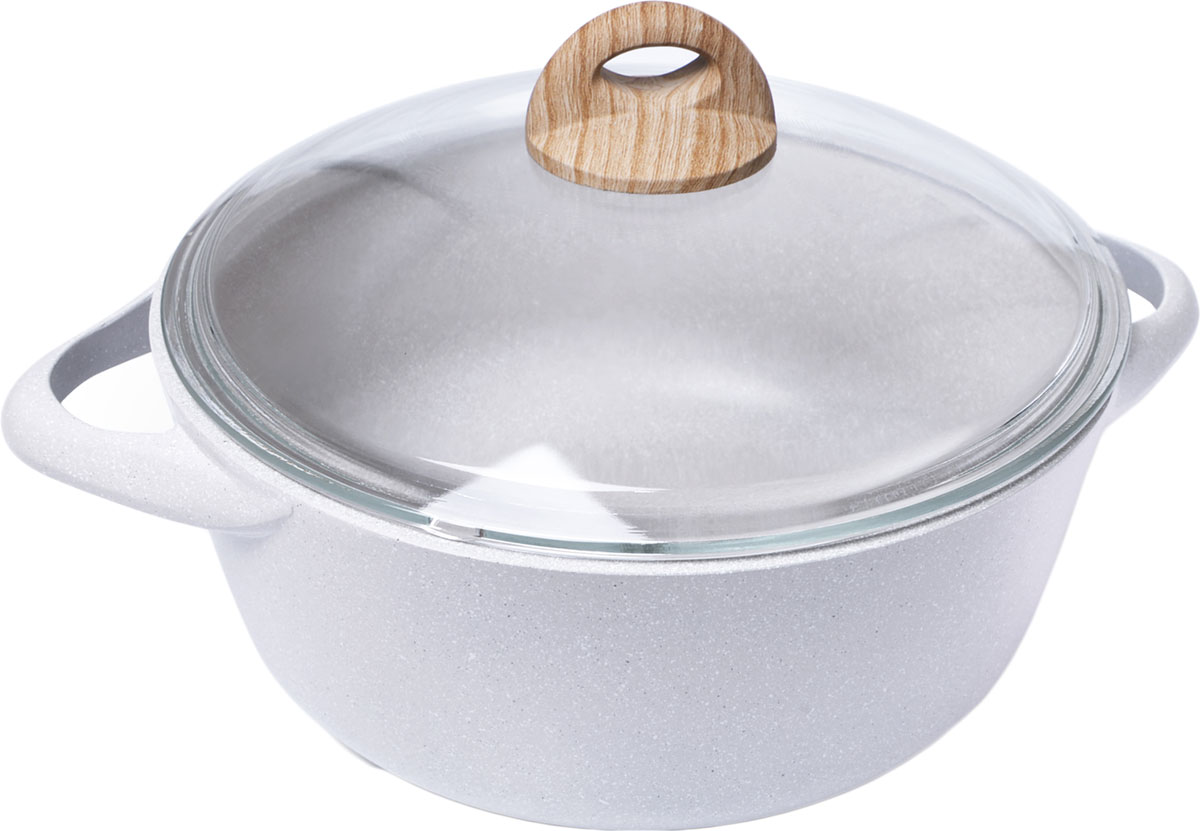 Компания FISSMAN, известная своими традициями в создании уникальной и качественной посуды, первая в мире использовала при производстве новой серии посуды BORNEO новейшее антипригарное покрытие TouchStone. Сочетание алюминия и многослойного антипригарного покрытия TouchStone возвело посуду серии BORNEO в ранг ярких шедевров посудного мастерства, что явилось результатом новейшей разработки технологов и дизайнеров компании FISSMAN®. Для Вас, дорогие ценители хорошей посуды, хочется подробнее остановиться на особенностях уникальной серии BORNEO от компании FISSMAN®. Одним из главных преимуществ является система многослойного сверхпрочного антипригарного покрытия TouchStone, состоящего из нескольких слоев натуральной каменной крошки на основе минеральных компонентов. Посуду серии BORNEO можно мыть в посудомоечной машине с использованием жидкого моющего средства. Не используйте абразивные порошки и металлические мочалки, это может привести к преждевременному износу и ухудшению антипригарных свойств покрытия. Использование новой серии посуды BORNEO с новейшим единственным в мире антипригарным покрытием TouchStone создаст новые яркие впечатления при приготовлении Ваших блюд.