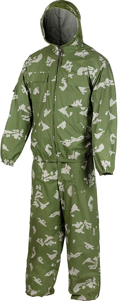 Костюм маскировочный летний Huntsman Стрелок: куртка, брюки, цвет: березка камуфляж. str_100-146. Размер 44/46