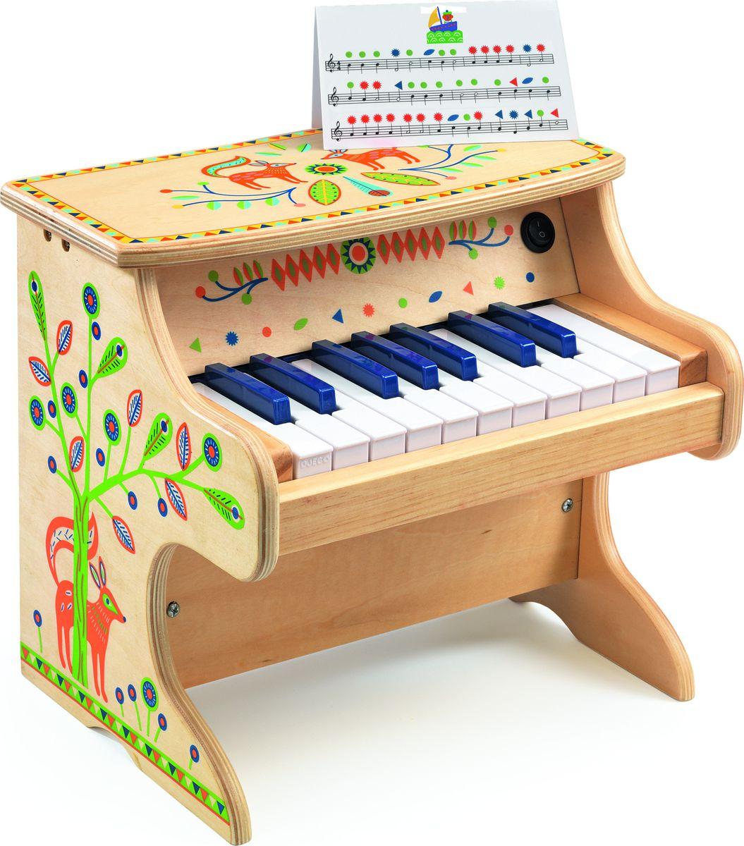 Djeco Музыкальная игрушка Электронное пианино цена 2017