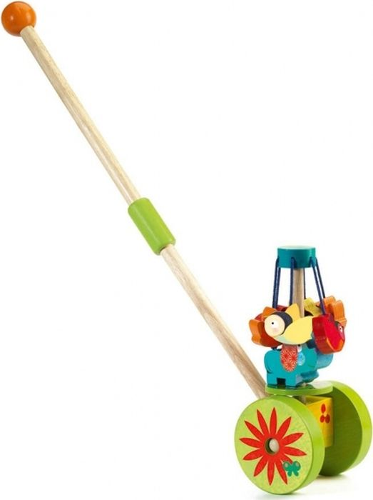 Djeco Игрушка-каталка Карусель каталки игрушки viga каталка собачка