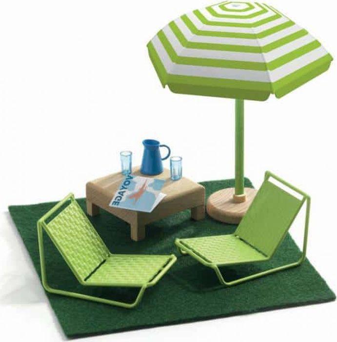 Djeco Мебель для кукол Терраса кукольные домики и мебель djeco мебель для кукольного дома терраса