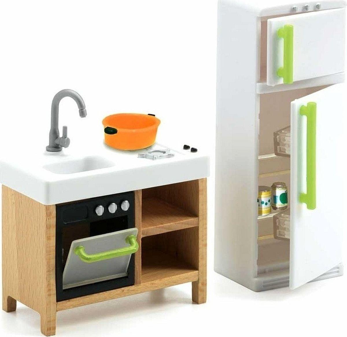 Djeco Мебель для кукол Кухня. 07833 мебель 100445904 кухня в коробке 31 9 3 11см 1163593