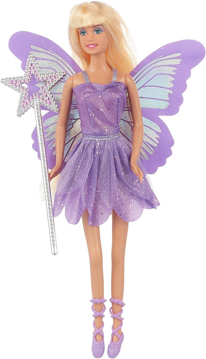 Defa Toys Кукла Бабочка-фея цвет сиреневый defa toys кукла lucy цвет платья цвет сиреневый