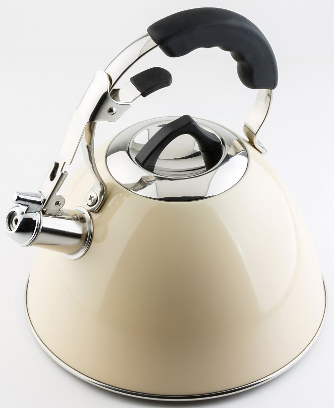 Чайник AQUATIC 3 л со свистком изготовлен из высококачественной нержавеющей стали. Вы сможете использовать чайник на всех типах варочных поверхностей (в том числе индукционных).