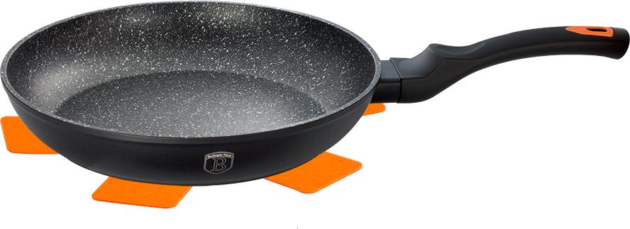 """Сковорода Berlinger Haus """"Granit Diamond Line"""", с мраморным покрытием, цвет: черный. Диаметр 20 см"""