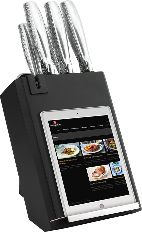 """Набор ножей Berlinger Haus """"Kikoza Line"""", на подставке из нержавеющей стали значительно сэкономит Ваше время на готовку и поможет легко нарезать любой вид продуктов, вам придется прикладывать минимально сил."""