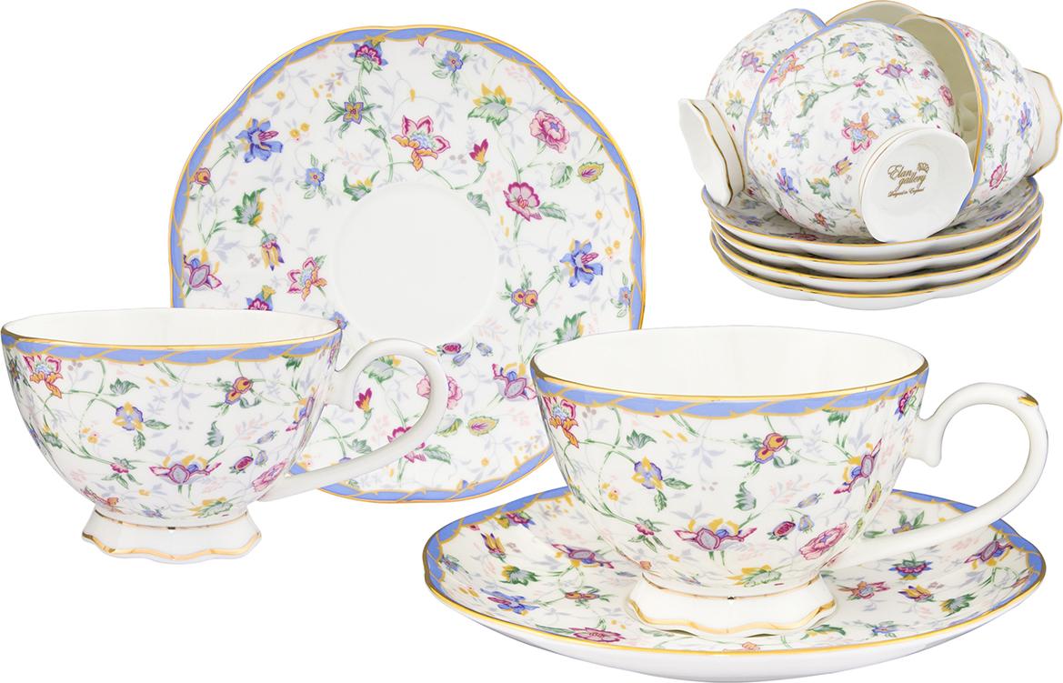 """Набор чайный Elan Gallery """"Цветочный каприз"""", 12 предметов"""