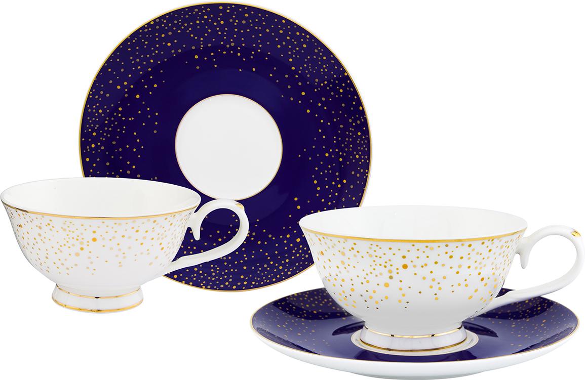 Чайный набор Elan Gallery День и ночь, 4 предмета чайная пара elan gallery день и ночь 220 мл 2 предмета