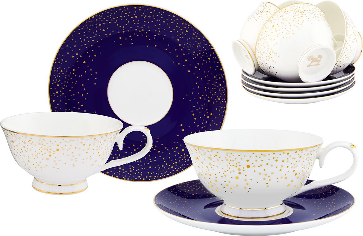 """Чайный набор """"Elan Gallery"""" - это отличный подарок, подходящий для любого повода. Набор принесет в ваш дом красоту и уют душевных чаепитий! Благодаря красивому утонченному дизайну и качеству исполнения он станет хорошим подарком друзьям и близким.Набор """"Elan Gallery"""" выполнен из фарфора с декоративным рисунком. В комплекте 12 предметов: 6 чашек на ножке, 6 блюдец.Набор упакован в подарочную упаковку. Объем чашки: 220 мл."""