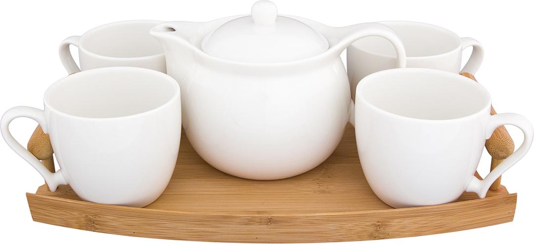 Набор чайный Elan Gallery Айсберг, на подставке, 6 предметов. 540164
