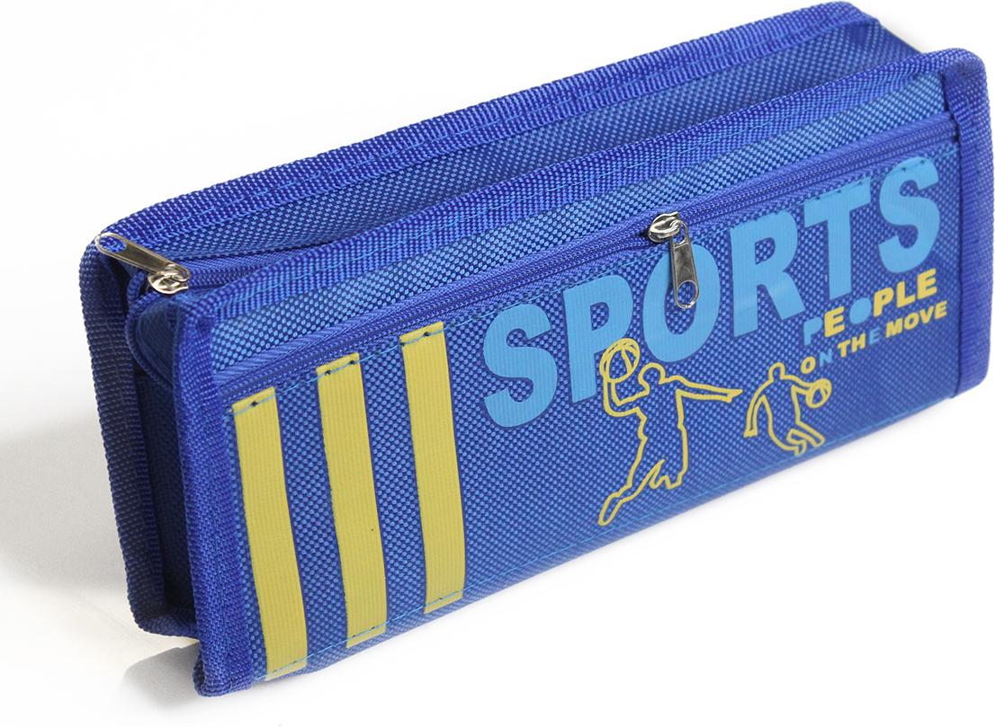 Calligrata Пенал школьный 2 отделения Спорт цвет синий 2873651