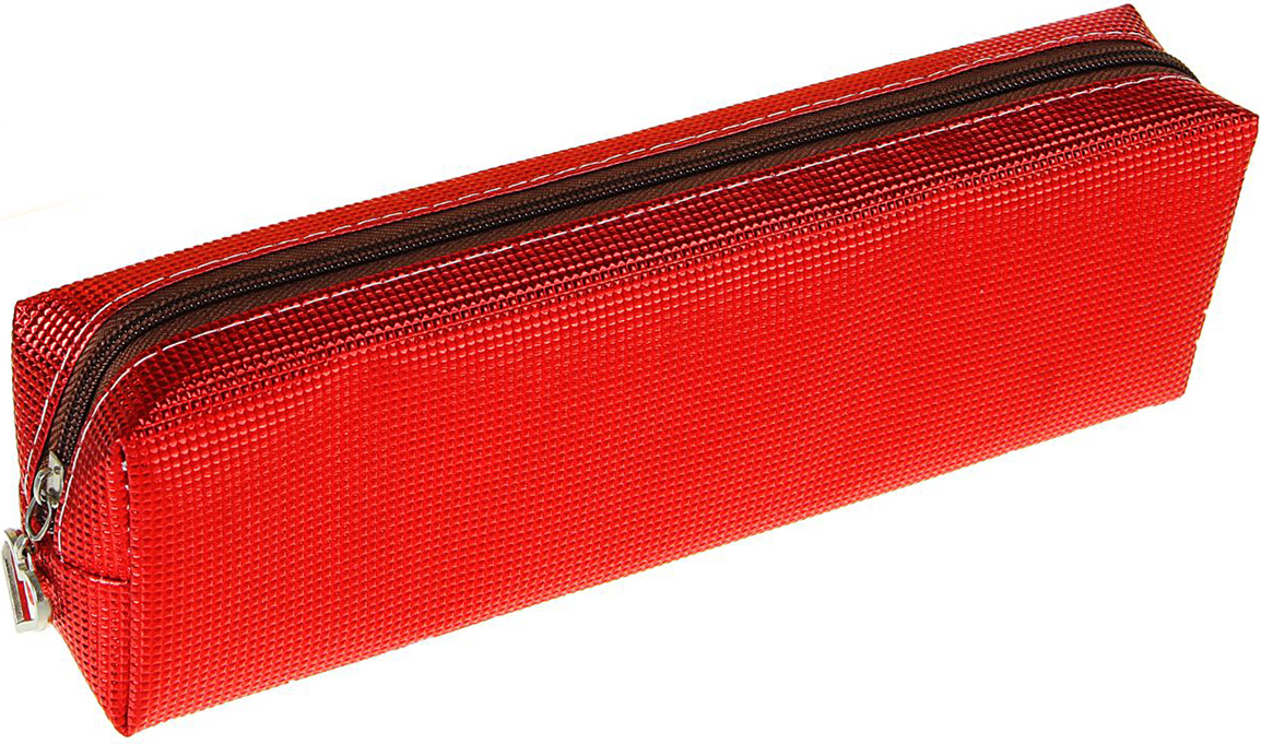 Calligrata Пенал школьный Металлик цвет красный 1935438 пенал школьный мишка силикон 43816