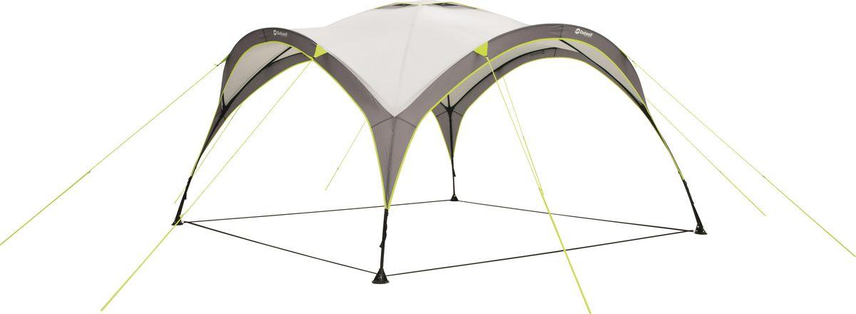 Простой в транспортировке и установке шатер подходит для пляжа, сада и аутдора. Каркас растягивается как гармошка - для установки надо просто растянуть стойки в четыре стороны. Ткань Outtex 3000 надежно защитит от солнца и дождя.