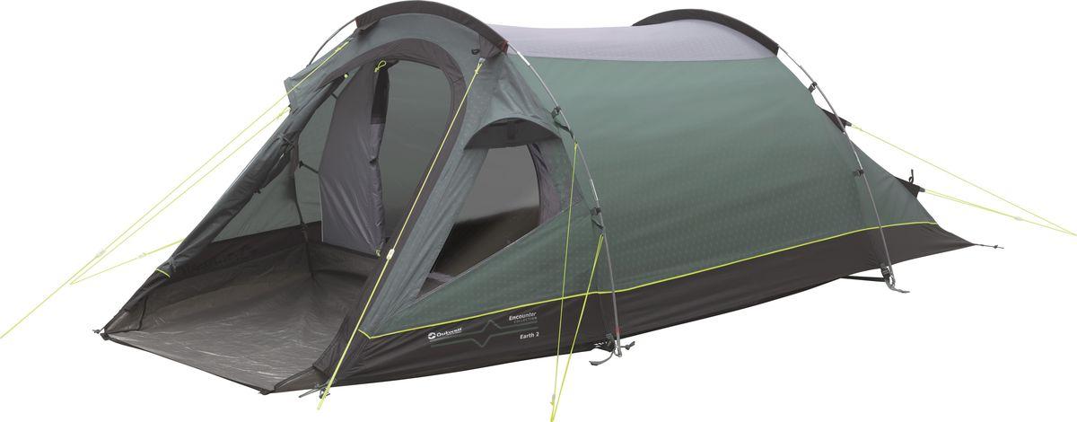 Палатка Outwell, 2-местная, цвет: серый, зеленый. 110562 плед утепленный outwell constellation comforter цвет зеленый