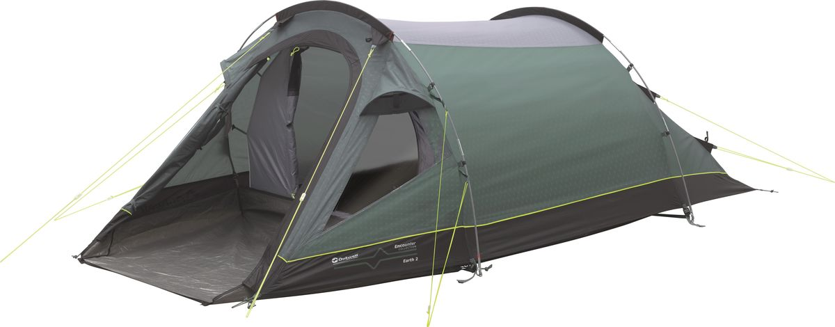 Палатка Outwell, 2-местная, цвет: серый, зеленый. 110562 комплект белья сорренто даниэла евро наволочки 70х70 цвет серый