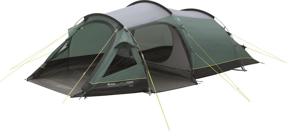 Палатка Outwell, 3-местная, цвет: серый, зеленый. 110563