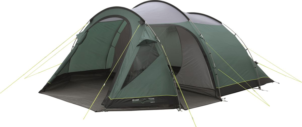 Палатка Outwell, 5-местная, цвет: серый, зеленый. 110565