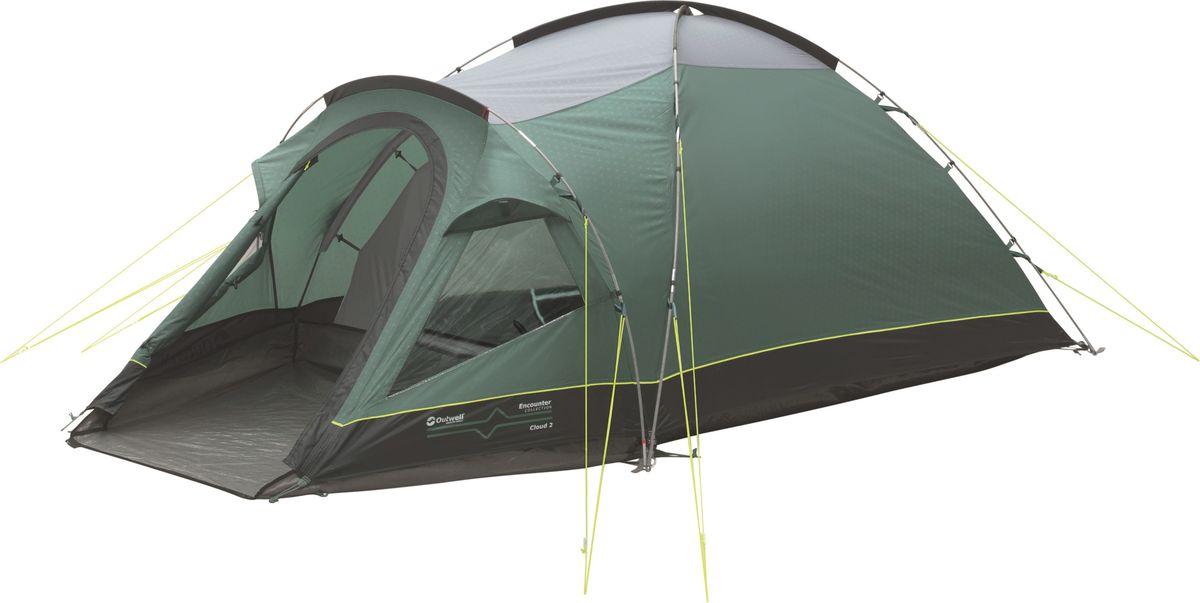 Палатка Outwell, 2-местная, цвет: серый, зеленый. 110566 плед утепленный outwell constellation comforter цвет зеленый