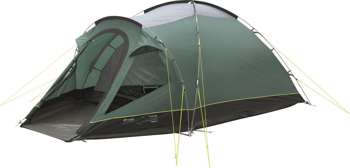 Палатка Outwell, 3-местная, цвет: серый, зеленый. 110567