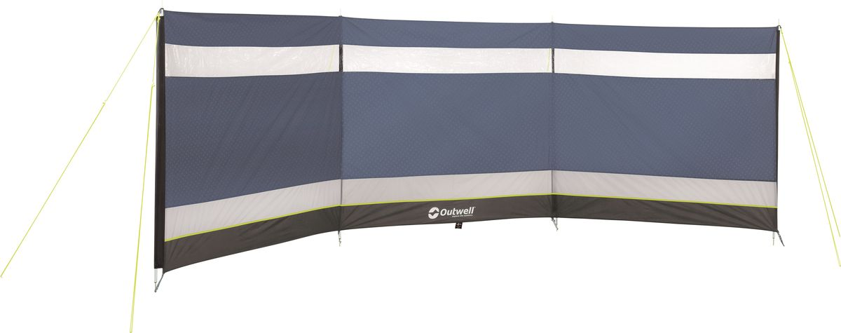 Ветрозащитные экраны от Outwell просты в установке, долговечны и позволяют закрыть лагерь от ветра или посторонних.