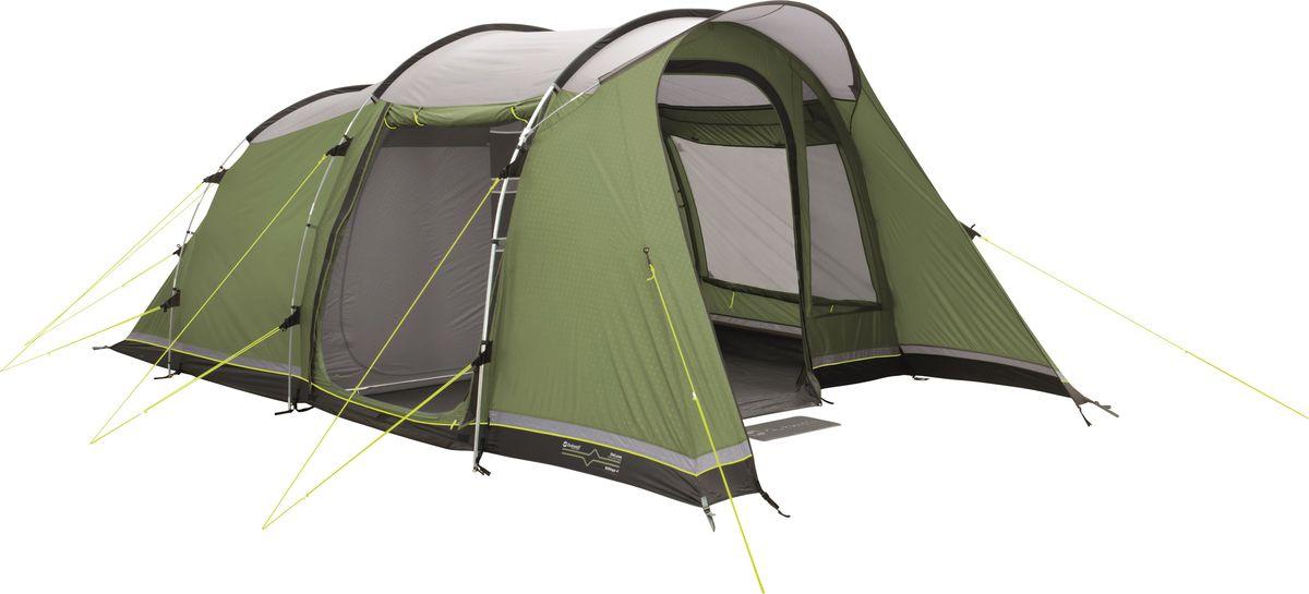 Компактная палатка для четырех человек (2+2) с двумя спальнями Ambassador Master. Предназначена для туристов и любителей проводить выходные на природе. Потолок спален покрыт термоотражающим покрытием, что в сочетании с вентиляционными отверстиями в задней части помогает держать внутренний микроклимат под контролем. Под большим навесом над входом можно укрыться от солнца или хранить вещи. Как выбрать палатку – статья на OZON Гид.