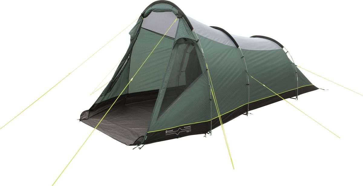 Палатка Outwell, 3-местная, цвет: зеленый, серый. 110767 плед утепленный outwell constellation comforter цвет зеленый