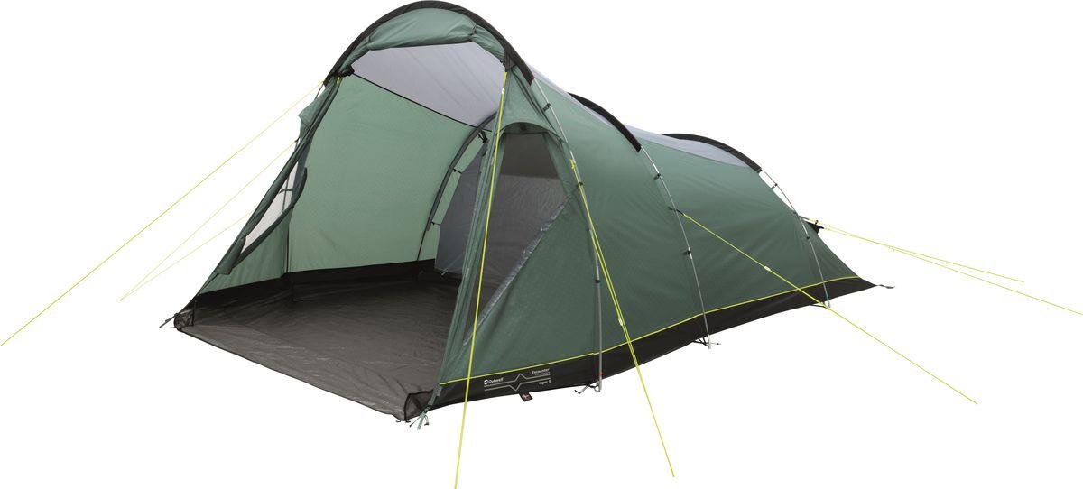 Палатка Outwell, 5-местная, цвет: зеленый, серый. 110769 плед утепленный outwell constellation comforter цвет зеленый