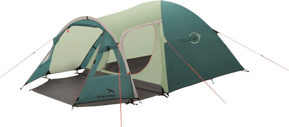 Палатка Easy Camp, 3-местная, цвет: зеленый, серый. 120277 палатка sol camp 3 цвет синий slt 007 06