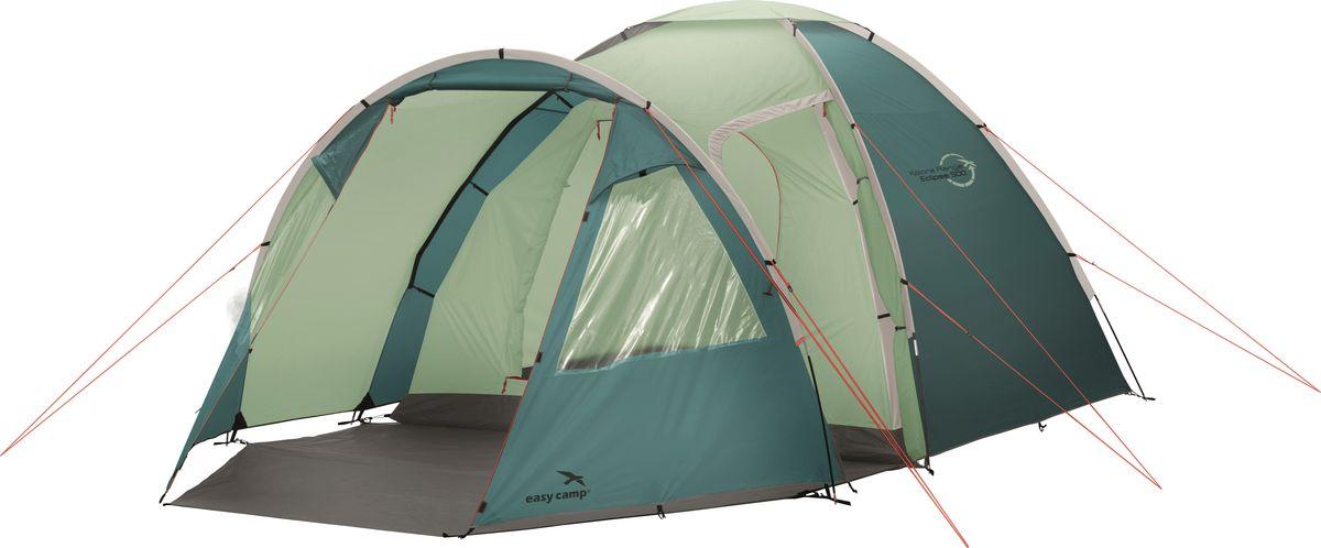 Просторная палатка с каркасом из стекловолокна рассчитана на 5 человек. Модель отлично подойдет для молодых семей.Палатка отличается просторным тамбуром и широкой зоной под навесом. Два входа, большие окна со шторками и хорошая вентиляция делают отдых более комфортным и приятным. Как выбрать палатку – статья на OZON Гид.