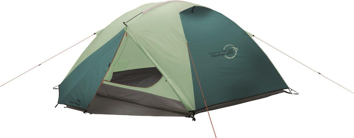 Палатка Easy Camp, 3-местная, цвет: зеленый, серый. 120284