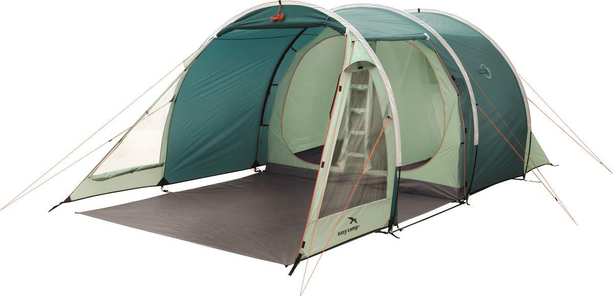 Палатка Easy Camp, 4-местная, цвет: зеленый, серый. 120289