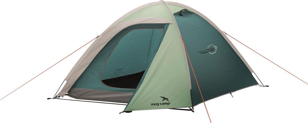 Палатка Easy Camp, 3-местная, цвет: зеленый, серый. 120291