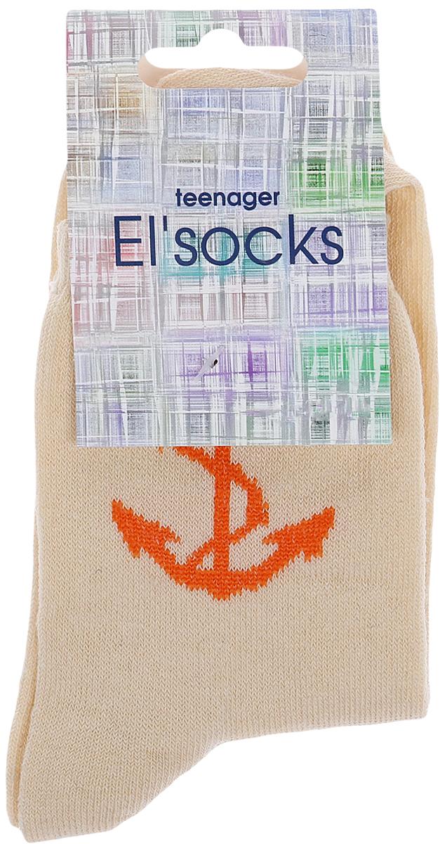 Носки подростковые Bio-Textiles Якорь, цвет: желтый. T114. Размер 34/40