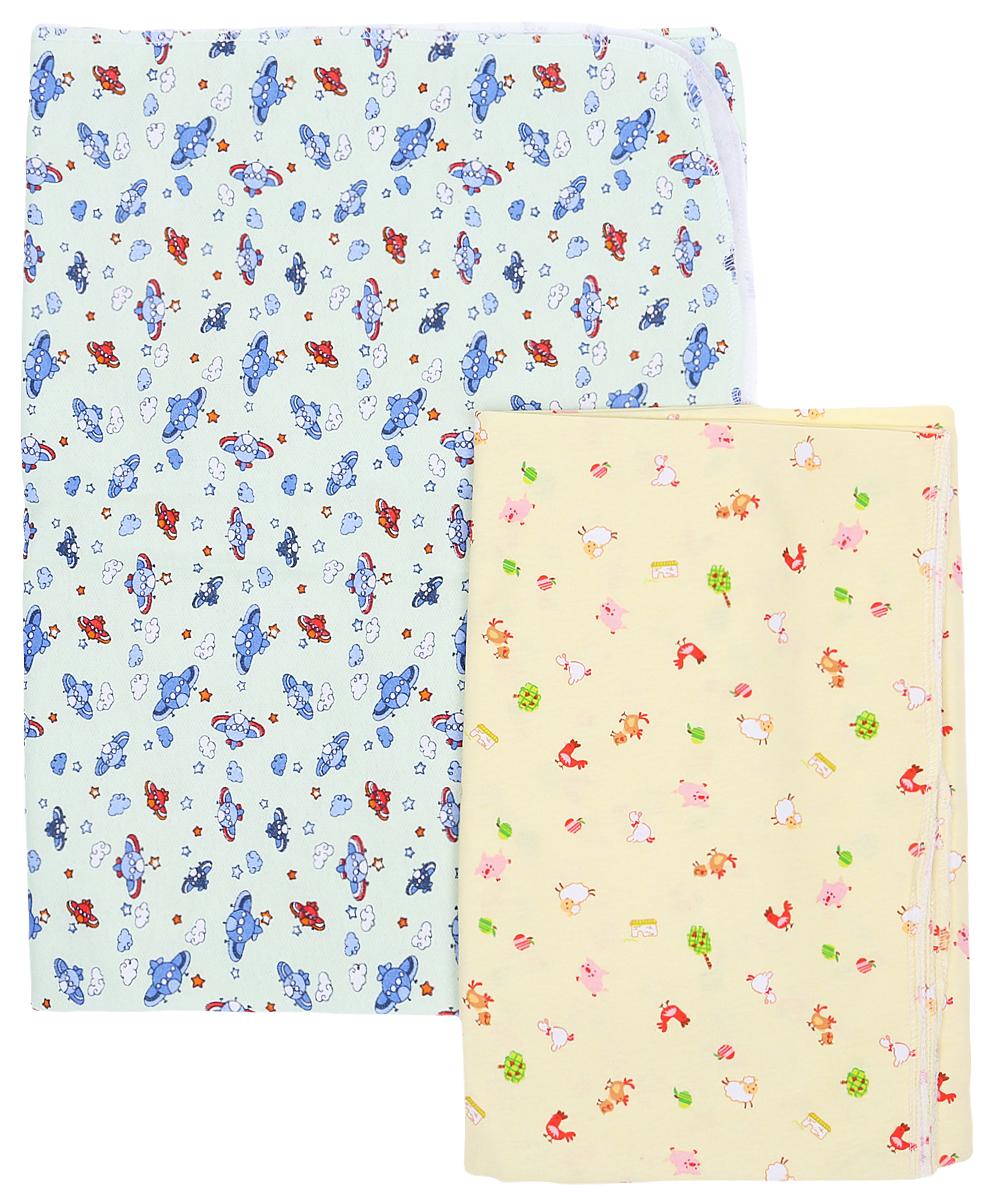Комплект пеленок Фреш Стайл, 130 см х 90 см, 2 цвета 2 шт. 2110-90 комплект фланелевых пеленок нева бэби звёздочка 2 шт розовый