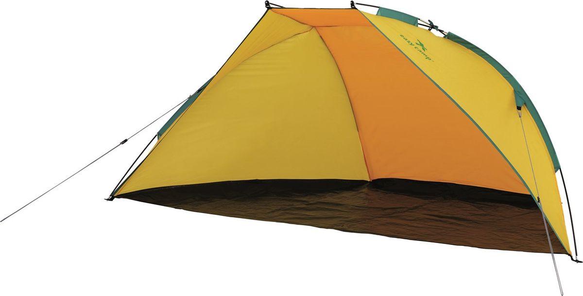 """Тент """"Easy Camp"""" имеет защиту от УФ-излучения +50, приятную расцветку и современный стиль. Каркас из стекловолокна позволяет быстро установить тент. Изделие оснащено боковыми карманами для хранения разнообразных аксессуаров для пикника. Дно тента надежно защищает от песка."""