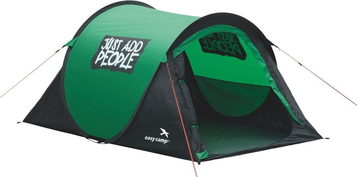 Палатка Easy Camp, 2-местная, цвет: зеленый. 120175