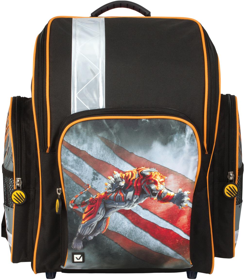 Brauberg Ранец школьный Тигр 226291 школьные рюкзаки brauberg ранец коптер 17 л