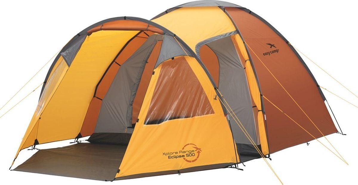 Палатка Easy Camp, 5-местная, цвет: оранжевый. 120187