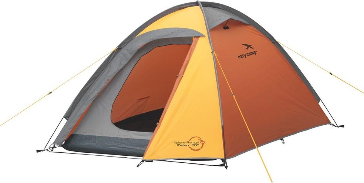 Палатка Easy Camp, 2-местная, цвет: оранжевый. 120190 кошелек deuter security legholster black цвет черный