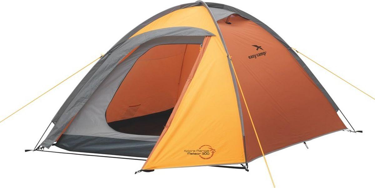 Палатка Easy Camp, 3-местная, цвет: оранжевый. 120191