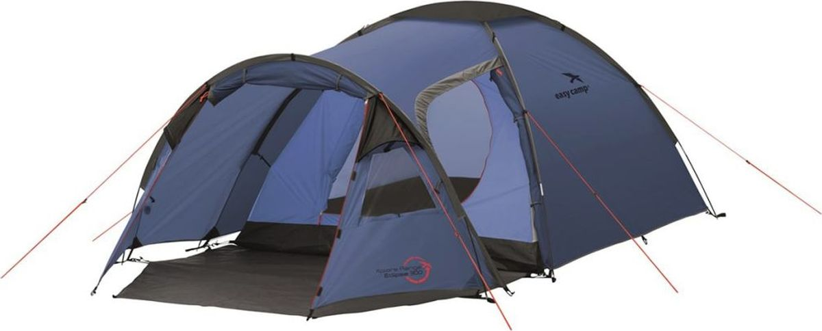 Палатка Easy Camp, 3-местная, цвет: синий. 120229 палатка sol camp 3 цвет синий slt 007 06
