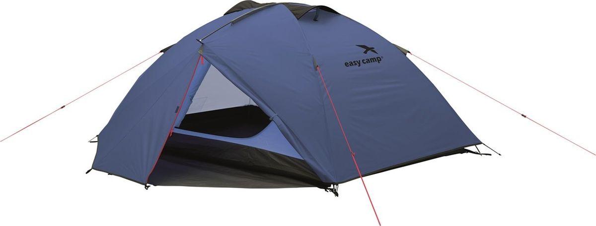Палатка Easy Camp, 3-местная, цвет: синий. 120233 палатка sol camp 3 цвет синий slt 007 06