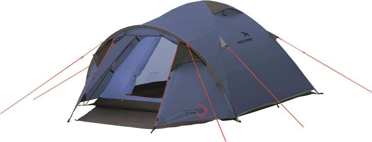 Палатка Easy Camp, 3-местная, цвет: синий. 120240 палатка sol camp 3 цвет синий slt 007 06