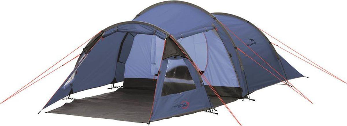Палатка Easy Camp, 3-местная, цвет: синий. 120242 палатка sol camp 3 цвет синий slt 007 06